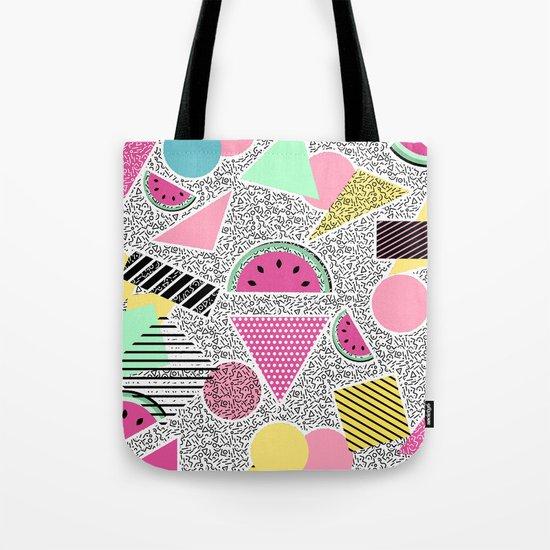Modern geometric pattern Memphis patterns inspired Tote Bag
