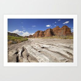 Dry riverbed in Purnululu National Park, Western Australia Art Print