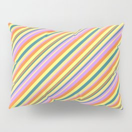 Bright Shine Inclined Stripes Pillow Sham