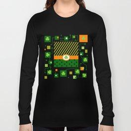 green Patrick, clover, schema Long Sleeve T-shirt