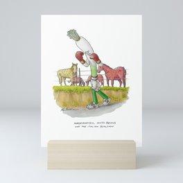 Horseradish, Pinto Beans and The Italian Scallion Mini Art Print
