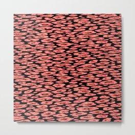 red cheetah Metal Print