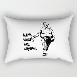 Blank Walls Are Criminal Rectangular Pillow