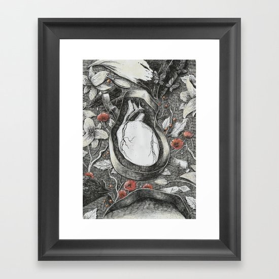 Heart-Shaped Box Framed Art Print