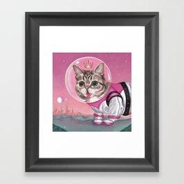 Supersonic Space Princess Framed Art Print