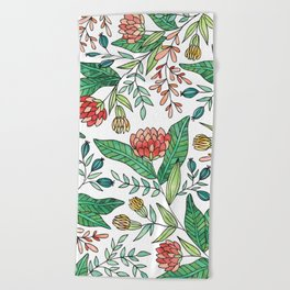 Wildflower Pattern - Full Color Beach Towel