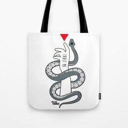 trust me - hand Snake Tote Bag
