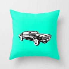 Mustang Car Throw Pillow