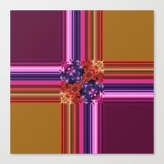 Purplish-Red and Gold Colorblock Abstract Canvas Print