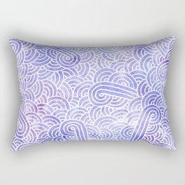 Lavender and white swirls doodles Rectangular Pillow