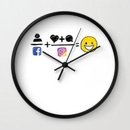 Color equation Wall Clock