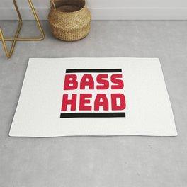 Bass Head, Rave, EDM, Junglist, dj gift, Dubstep, Dnb, DJ T-Shirt Rug