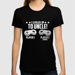 I Leveled Up To Uncle, New Uncle Gaming T-shirt