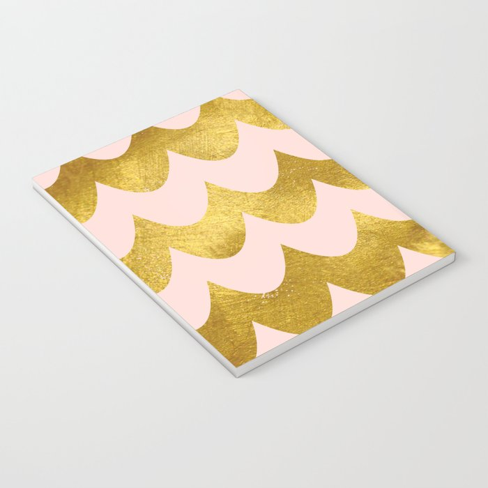 Pink Gold Foil 04 Notebook
