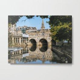 Bath Somerset Pulteney Bridge reflection Metal Print