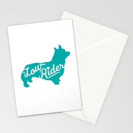 Love my Low Rider Corgi Stationery Cards