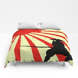 Japanese Art Sun Samurai Warrior Bushido Martial Arts Comforters
