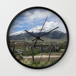 Mountain Country Wall Clock