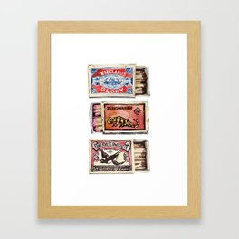 Matchboxes Framed Art Print