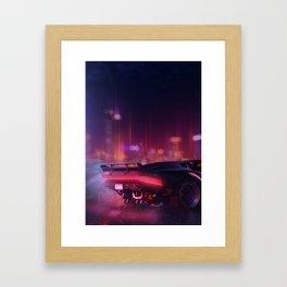 Cyberpunk - The night city Lights Framed Art Print