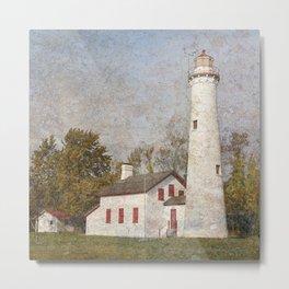 Sturgeon Lighthouse Textured Metal Print