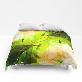 Toxic - Geometric Abstract Art Comforters