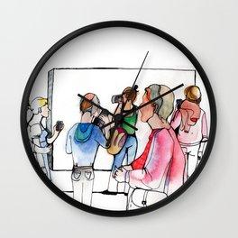 Museum visit Wall Clock