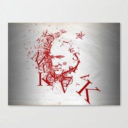 Typographic Atatürk Portrait Canvas Print