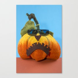 Pumpkin handmade from felted wool for celebration of Halloween Canvas Print