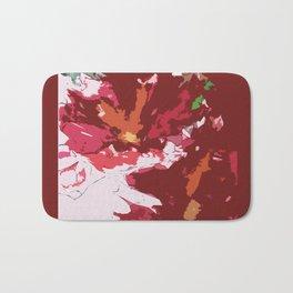 Red Floral Bath Mat