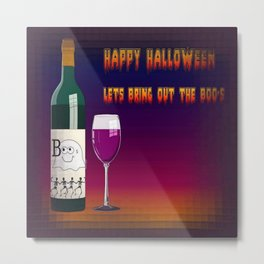 Happy Halloween Let's Bring Out the Boo's Greeting  Metal Print