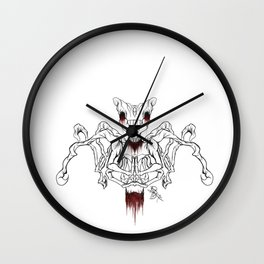 Pray Harder Wall Clock