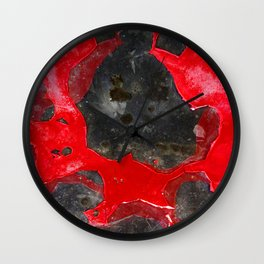 Peeling Out Wall Clock