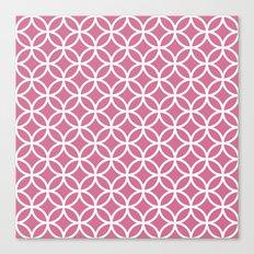 Bubblegum circles Canvas Print