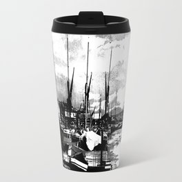 Boats At Sundown  Travel Mug