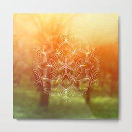 Valinor (Undying Lands)   Sacred geometry art Metal Print