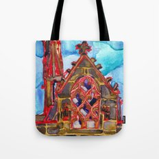 lit up in red Tote Bag