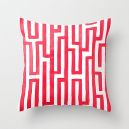 Enter the labyrinth Throw Pillow