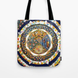 Tibetan Shambala Mandala 33 Tote Bag