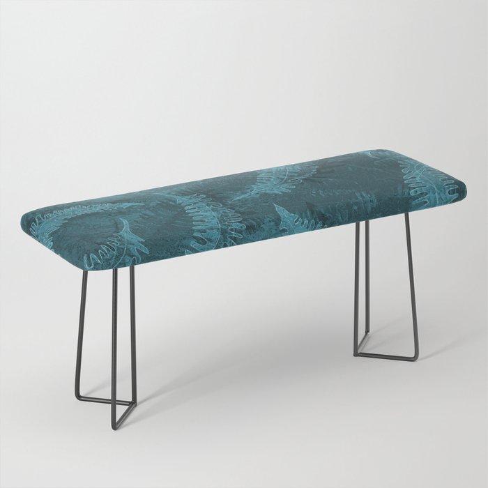 Ferns (light) abstract design Bench