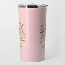 And though she be but little she is fierce (Floral MK BlackText) Travel Mug