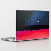 moon phase Laptop & iPad Skins featuring New Moon - Phase III by Marina Kanavaki