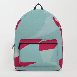 Dusty Pale Blue and Vibrant Magenta Abstract Graphic Backpack