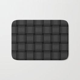 Large Black Weave Bath Mat