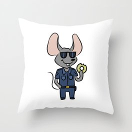 Police Security Mouse cartoon children gift Throw Pillow