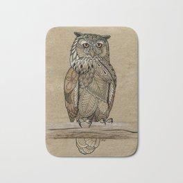 Paper Bag Owl Bath Mat