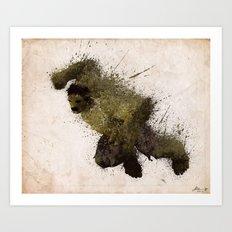 The Angry man Art Print