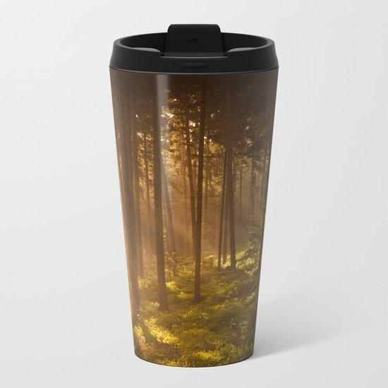 Morning forest Metal Travel Mug