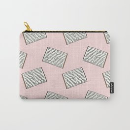 Open Book Pattern (Pink) Carry-All Pouch