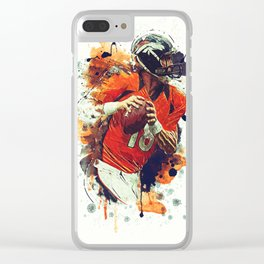 Peyton Manning Clear iPhone Case